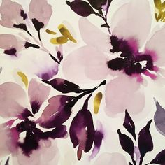 purple flowers watercolor illustration | #watercolor #floral #purple