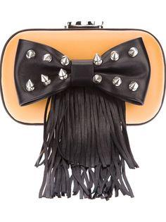 CORTO MOLTEDO Fringed Bow Evening Bag