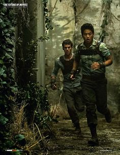 Thomas and Minho. THIS IS GONNA BE THE BEST MOVIE OF THE YEAR!!!!!!!!!!!!!!!!!!! Well I dunno if it'll top Mockingjay pt 1 but who knows? :)