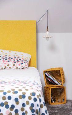 tete de lit avec plaque en médium