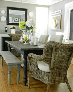 Rooms for Rent Doucette Design:  Farmhouse Dining room table For Kitchen?