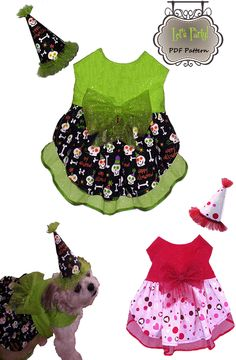 Dog Clothes Pattern Let's Party By Miss Daisy Designs