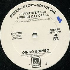 Oingo Boingo ‎– Private Life/ Whole Day Off/ Nothing To Fear/ Grey Matter #OINGOBOINGO #PUNKROCK