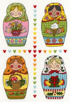 Colourful cartoon seasons -