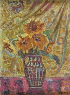 Czesław Rzepiński - Kwiaty w wazonie