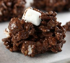 Rocky Road No-Bake Cookies, Gluten-Free when using #glutenfree Rice Krispies!