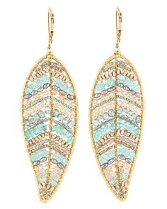 Dana Kellin - Fiji Mix Large Leaf Earrings
