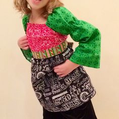Girls Christmas Peasant Top Jesus is the Reason for by LadyBeez