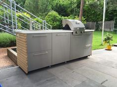 """Excellent Free of Charge DIY outdoor kitchen - Ikea Hack. My implemented project in The kitchen is t . Thoughts A """"design"""" goes through the Sites and pages with this system earth: Ikea Hacks. Ikea Outdoor, Outdoor Kitchen Design, Diy Garden Furniture, Diy Outdoor Furniture, Kitchen Furniture, Ikea Kura Hack, Ikea Hacks, Tv Ikea, Patio Diy"""