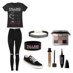 """""""Falling in reverse"""" by queenstephy88 on Polyvore featuring Topshop, Vans, Humble Chic, Forever 21, Maybelline and Bobbi Brown Cosmetics"""