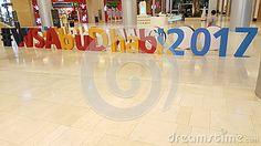 World Skills Abu Dhabi 2017 twitter handle blocks exhibited at Yas mall, Abu Dhabi