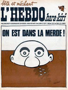 L'Hebdo Hara Kiri - # 34 - 22 Septembre 1969 - Couverture : Wolinski