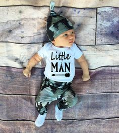 Baby Boy Coming home Outfit Little ManBaby by TheSouthernCloset101