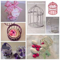 bautizos vintage | jaula recuerdo decoración boda bautizo baby s vintage rattan