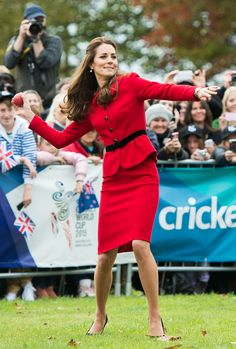 Kate Middleton, getting active in heels.