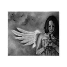 Defender Angel Girl Sword Poster (£15) ❤ liked on Polyvore featuring home, home decor, wall art, girl posters, framing posters, paper wall art, angel wall art and framed wall art