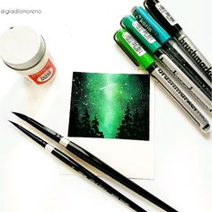 Using karin markers to create a sky art galaxy Night sky using karin markers