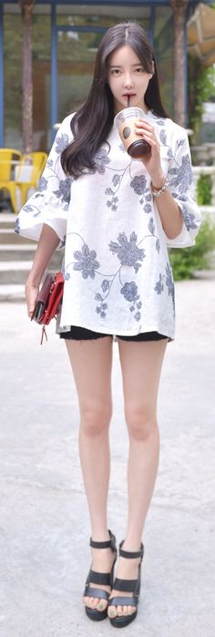 Luxe Asian Korean Women Fashion Fable Ivory Blouse