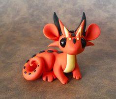 Orange Scrap Dragon by DragonsAndBeasties on Etsy