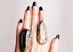 EVIDENCE arrowhead ring: featured on Lucky Magazine .com