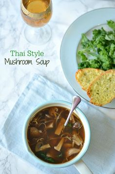 Quick fix for a drab fall evening supper- Thai style Mushroom soup. Recipe adopted from Yotam Ottolenghi. Amazing mix of flavours from prunes, lemongrass and basil leaves. #fallrecipes, #comfortfood, #vegan