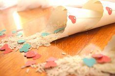 #wedding #cones #arroz #rice #heart