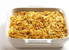 Healthified Cheesy Potatoes - All the low fat crap is not healthy, nor are the hash browns. I like the sound of it though using full fat ingredients, butter with homemade hash browns & whole wheat croutons Ww Recipes, Side Dish Recipes, Potato Recipes, Side Dishes, Cooking Recipes, Healthy Recipes, Healthy Foods, Light Recipes, Healthy Dishes