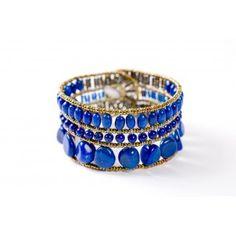 Vas a deslumbrar con esta elegante y moderna pulsera además de aportarte alegria y optimismo por el azul del lapislazuli