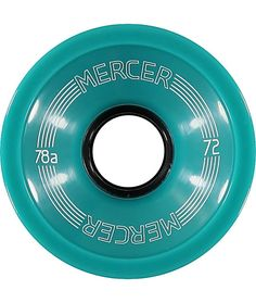 The Mercer 72mm 78a skateboard wheels in the mint colorway are made for total speed and control. These Mercer wheels feature a durable black core, grippy 78a durometer, and a big 72mm size that will keep your longboard or cruiser moving smoother and faste