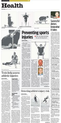 Health page for the Evansville Courier & Press for 3/12/2012