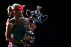 Angelique Kerber's stunning Australian Open win over Serena Williams – in pictures Rod Laver Arena, Angelique Kerber, Australian Open, Serena Williams, Tennis, Happy, Pictures, Tennis Sneakers, Photos