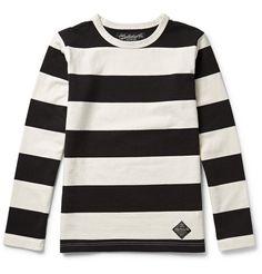 Neighborhood Striped Cotton-Jersey T-Shirt Mr Porter, Survival Guide, Gq, Looks Great, The Neighbourhood, Menswear, Mens Fashion, Sweatshirts, Cotton