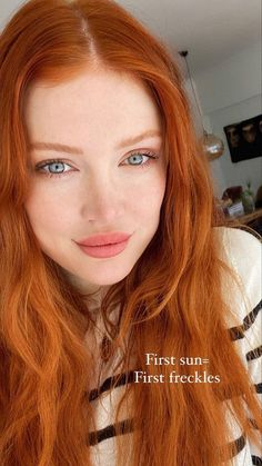 Pretty Red Hair, Pretty Redhead, Redhead Girl, Blonde With Freckles, Copper Red Hair, Ginger Hair Color, Cabello Hair, Red Hair Woman, New Hair