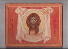 tomasz biłka op, Mandylion tempera na desce, 19x25 cm, 2009, dla Katarzyny Jamki.