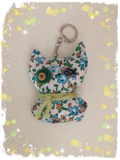 Porte clef chat  - porte-clé & bijoux - Les petites cousettes d'Elsa  - Fait Maison