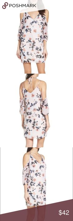 Everything's Coming up Rosy Cold Shoulder Dress NWT Ali & Jay Everything's Coming up Rosy Cold Shoulder Dress Size Medium.  Beautiful light pink dress with roses.   Please let me know if you have any questions. Ali & Jay Dresses