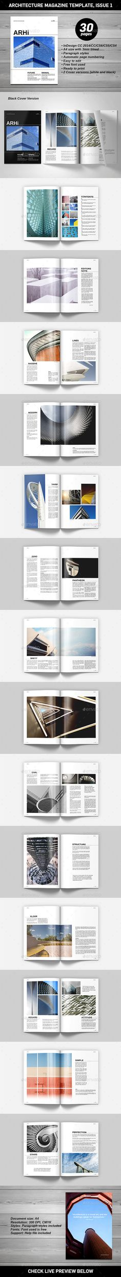 Architecture Magazine Template #design #journal Download: http://graphicriver.net/item/architecture-magazine-template/11432387?ref=ksioks