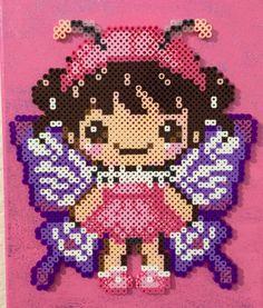 Fairy wall art decor perler beads by AmeliasWreathsofJoy