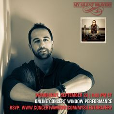 Sept 8 Excited to announce a worldwide online concert to celebrate Breakthrough release on Sept 28! https://www.concertwindow.com/mysilentbravery