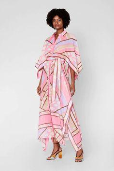 Vivara Print Cotton Shirt Dress   Emiliopucci.com Ladies Day Dresses, Cotton Shirt Dress, Flatlay Styling, Collar Styles, Draped Dress, Emilio Pucci, Size Model, New Product, Printed Cotton