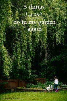 5 things I won't do in my garden again by @Aimée Gillespie Lemondée Gillespie Lemondée Gillespie Lemondée Gillespie   Simple Bites