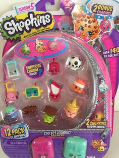 *SEASON 5 SHOPKINS* 12 Pack Item Pictured  SURPRISE CHARM INSIDE! #Moose