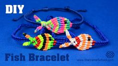 Colorful Fish Bracelet Tutorial #Fish #Bracelet #Tutorial