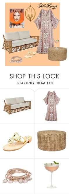 """Patio Lounge"" by hopetgregory on Polyvore featuring Calypso St. Barth, Jack Rogers, Bella Luna, Marjana von Berlepsch, Crate and Barrel and relaxingfashion"
