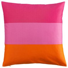 Cushion Cover, Pink/Striped - eclectic - pillows - H