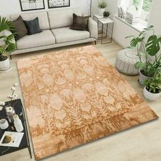 Add character and depth to a space by displaying this one-of-a-kind rug. Made completely by hand, this beautiful work of art is both beautiful and durable. #goldrugs #buygoldrugs #buygoldrugsonline #rugknots Aesthetic Value, Ikat Pattern, Oriental Design, Cool Rugs, Rugs Online, Rugs In Living Room, Contemporary Style, Colorful Rugs, Area Rugs