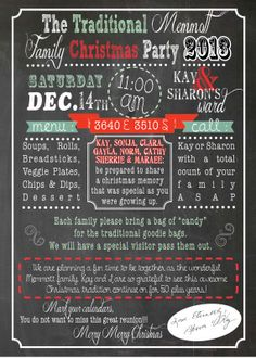 Christmas/Holiday Party or Reunion Invite by DubDubDesigns on Etsy, $5.00