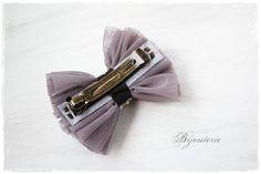 チュールリボンバレッタ(purple)