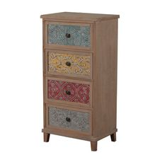 Oh! Home Erin Driftwood and Colored Tall Cabinet