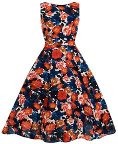 Mandarin Floral Sophia Dress : Lady Vintage